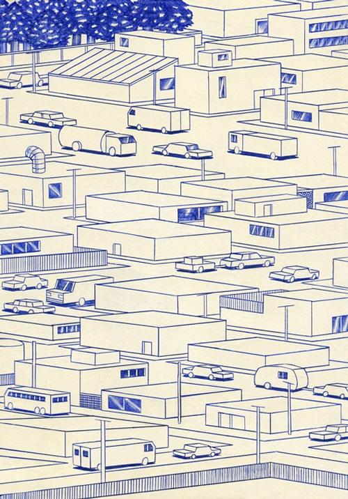 17-Streets-Kevin-Lucbert-Ballpoint-Biro-Pen-Drawings-www-designstack-co