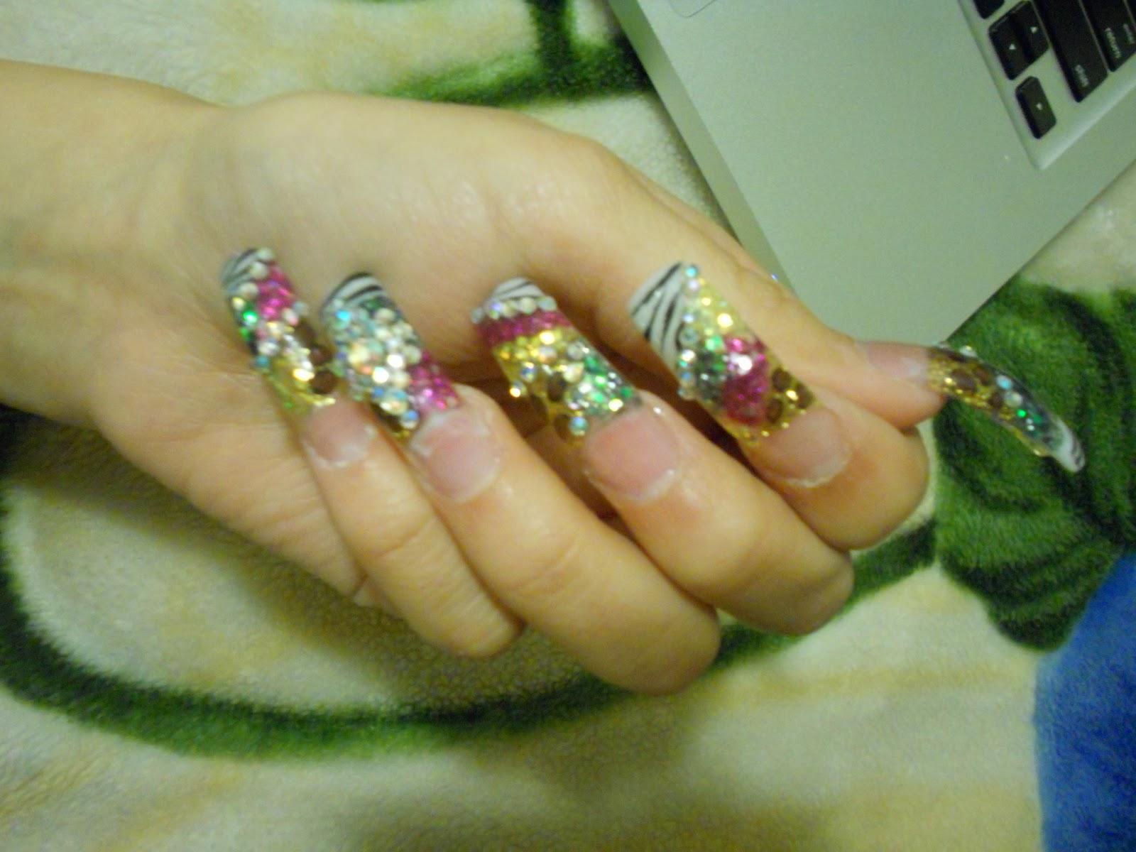 Diana\'s Nails: Estilo Sinaloa Cheetah & Zebra Colorido con Piedra ...
