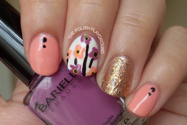Marimekki Inspired Nail Art