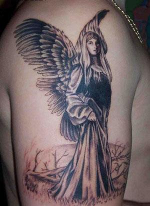 Tatuaje Angel mujer