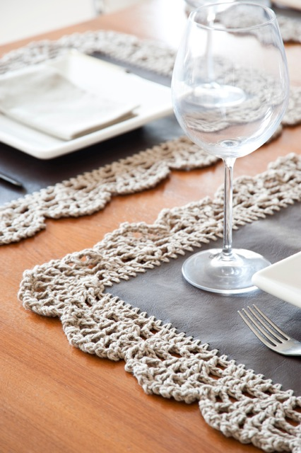 Hacer individuales a crochet