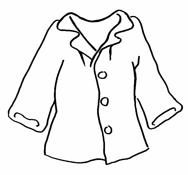 Clipart of a Retro Black and White Businessmans Jacket by