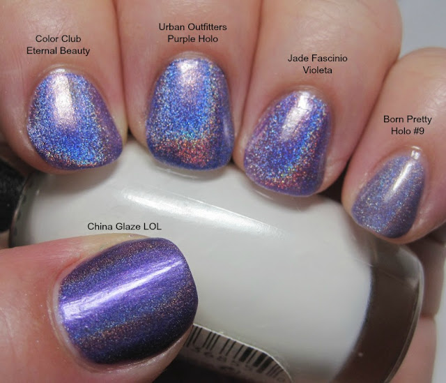 purple holo comparison