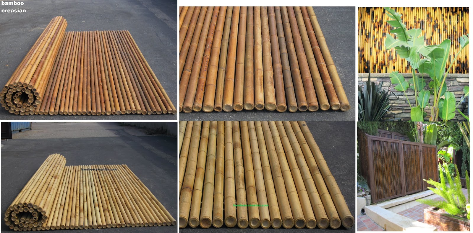 Beautiful Bamboo Canes Panel Fence Rolls