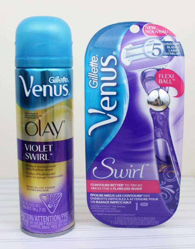 Gillette® Venus Swirl™ razor Gillette Venus Olay Violet Swirl Shave Gel #NewVenusSwirl SheSpeaks