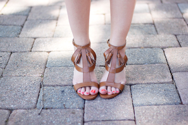 Lillian Nai Tan Tassel Sandals