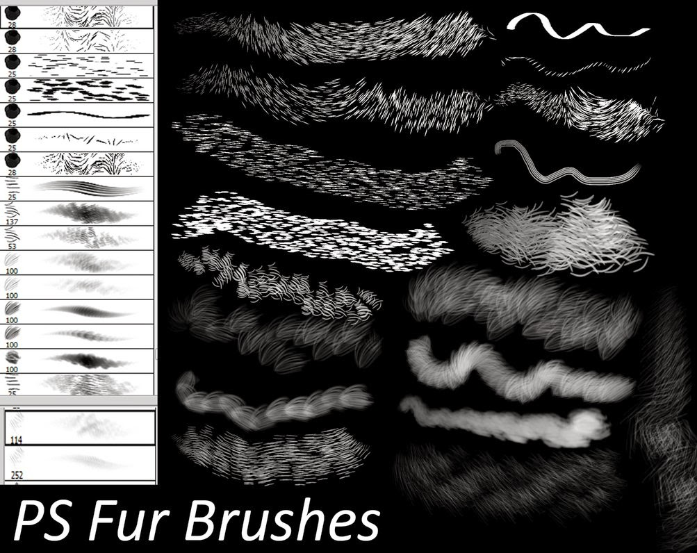 PS Fur Brushes