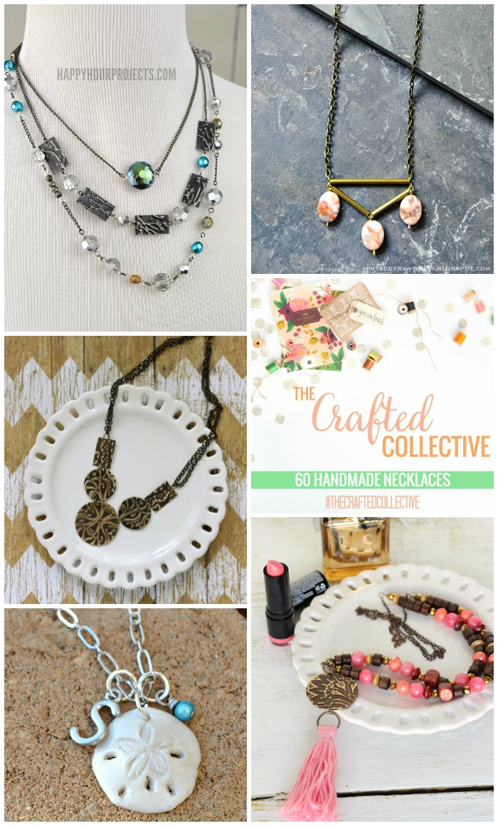 60 Beautiful Handmade Necklaces--Great jewelry tutorials and perfect gift ideas for birthdays and Christmas! www.pitterandglink.com