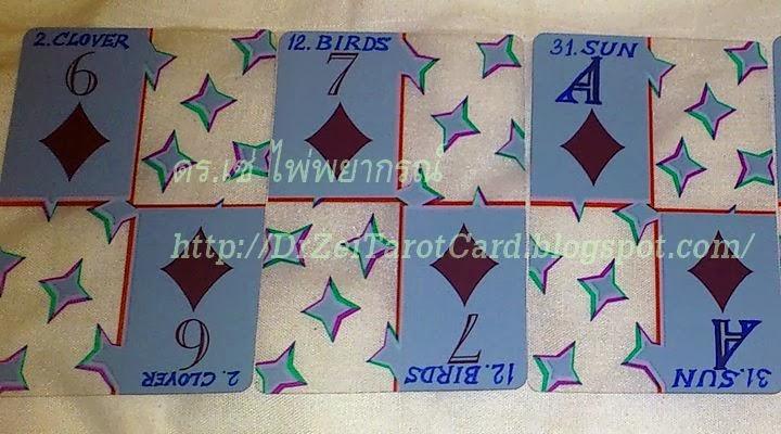 เลอนอร์มองด์ ไพ่ป๊อก playing cards Lenormand Transparent ไพ่ใส ไพ่ยิปซี