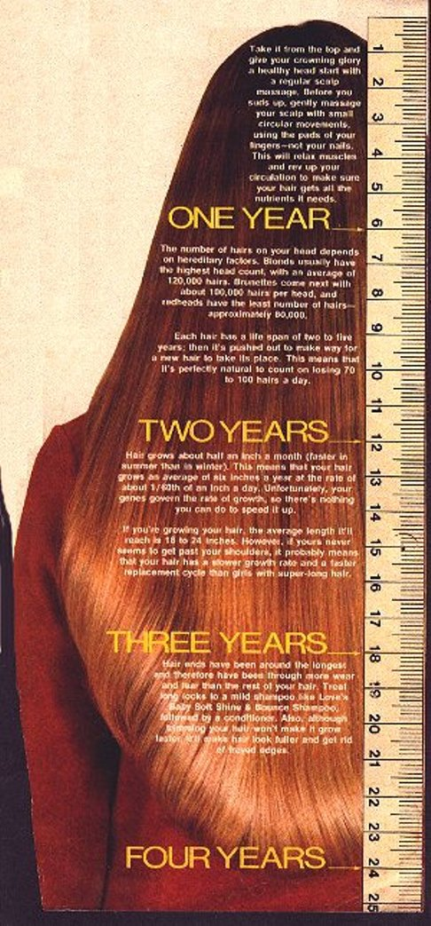 Natural Hair Growth Length Chart