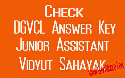 DGVCL Answer Key 2014