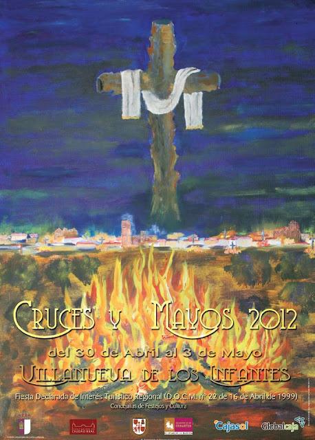 Cruzes de MayoPlaza Mayor, Don Quijote, Rocinante, Cervantes, Villanueva de los infantes, campo de montiel, Ciudad Real, Castilla la mancha