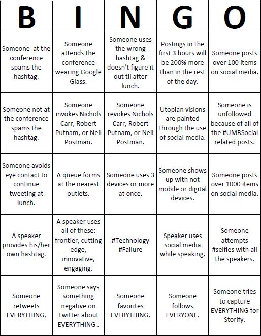 book report bingo sheet