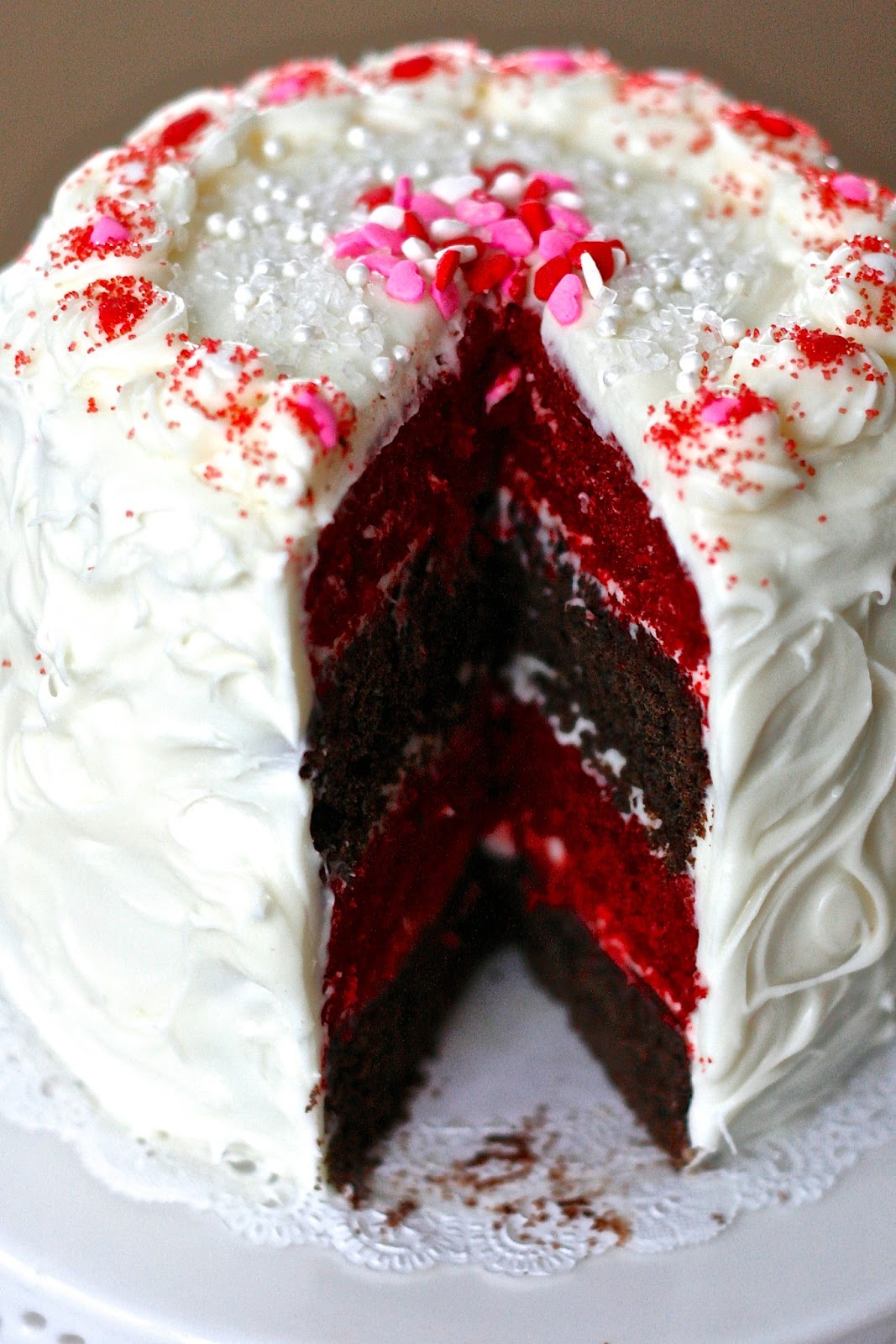 Mini Red Velvet and Chocolate Layer Cake