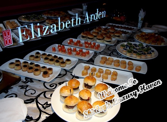 elizabeth arden blogger event food