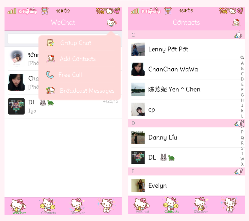 Kitty Fang ☆: Hello Kitty Wechat Theme Ver. 6.2.2 (New