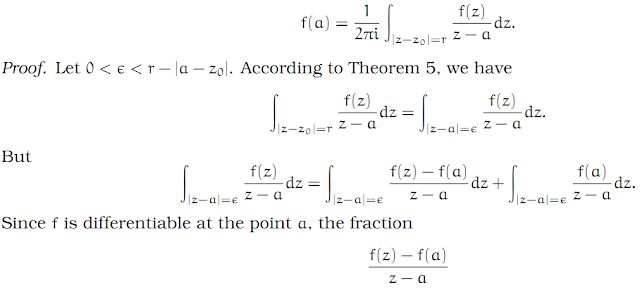 Complex Analysis: #5 Cauchy`s Integral Formula equation pic 1