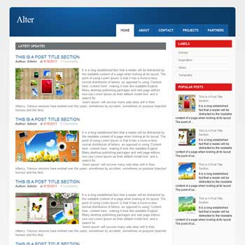 Alter blog template. download blogger template gallery style