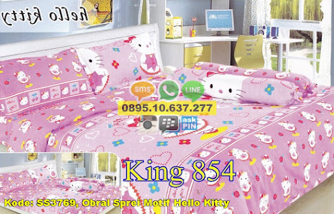 Obral Sprei Motif Hello Kitty