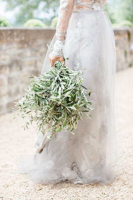 ramo novia olivo