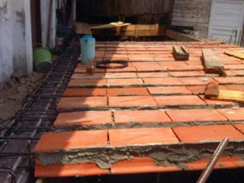 Cara Pemasangan Dak Beton Keraton atau  Ceiling Brick