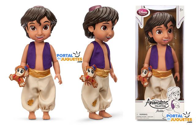 muñeco aladdin coleccion disney animators caja