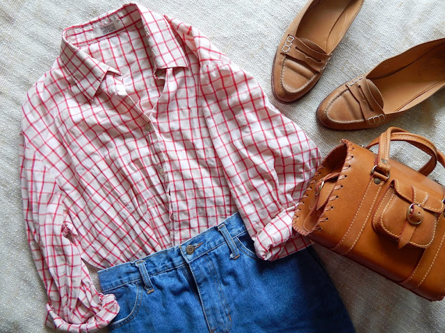Red Check Shirt Outfit