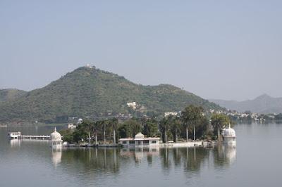 Nehru Island garden in Udaipur
