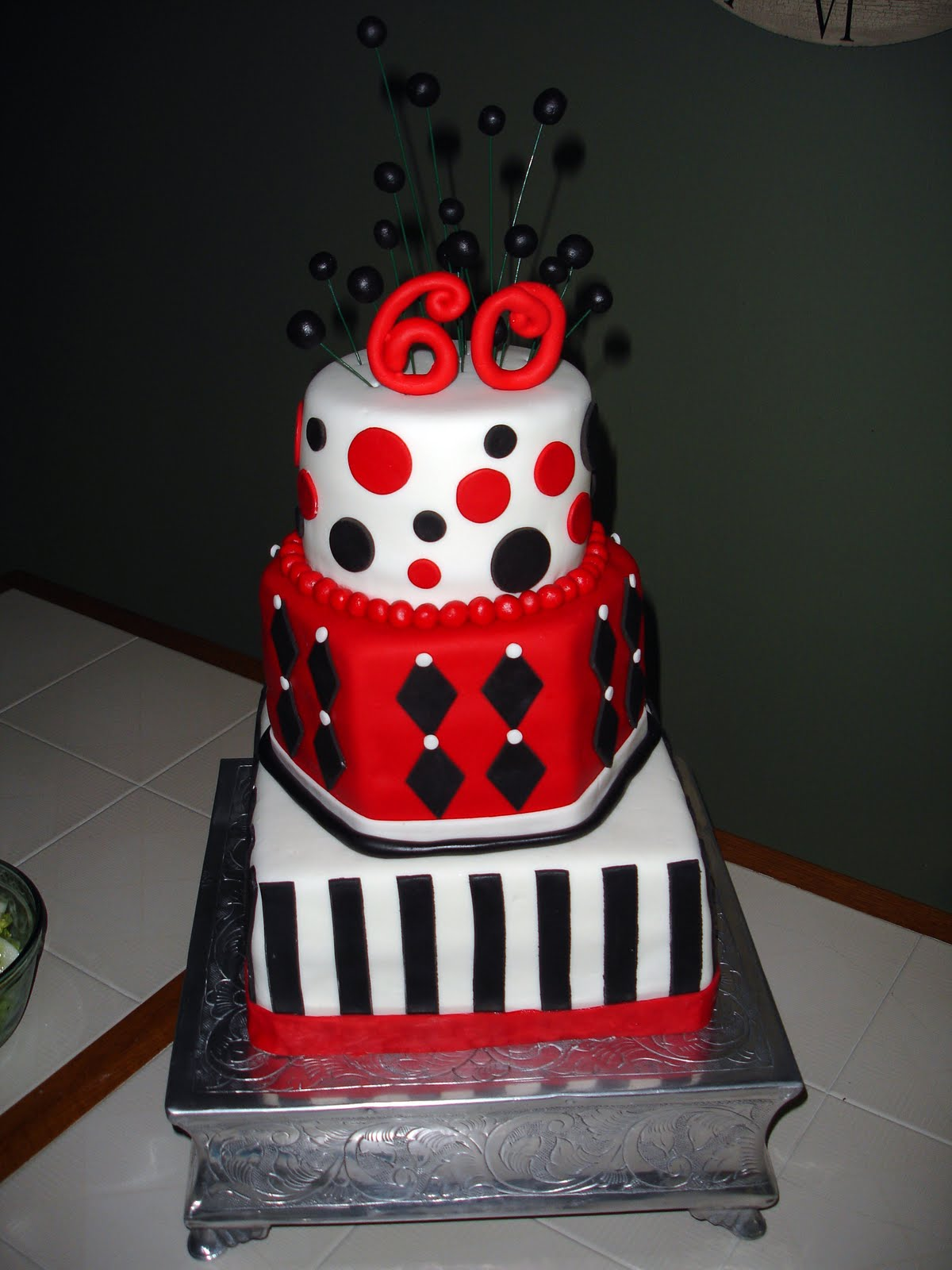Cake Flair Black Red And White