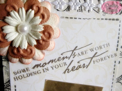 Vintage Women Themed Postcard - Some moments are worth holding in your heart forever