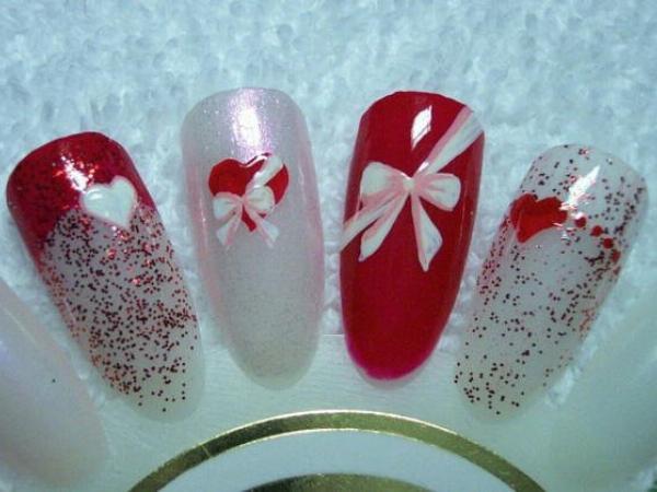 Ногти дизайн на день святого валентина