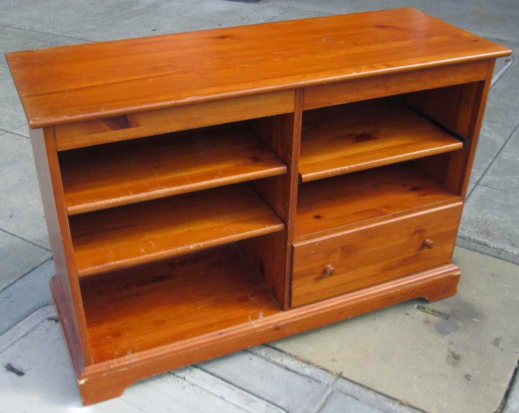 Uhuru Furniture Collectibles Sold Reduced Knotty Pine Tv Stand 25