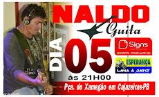NALDO GUITA - DIA 05, ÀS 21H, PRAÇA DO XAMEGÃO
