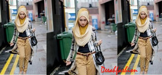 Baju Muslim Kasual Saat Pergi StreetStyle Modis