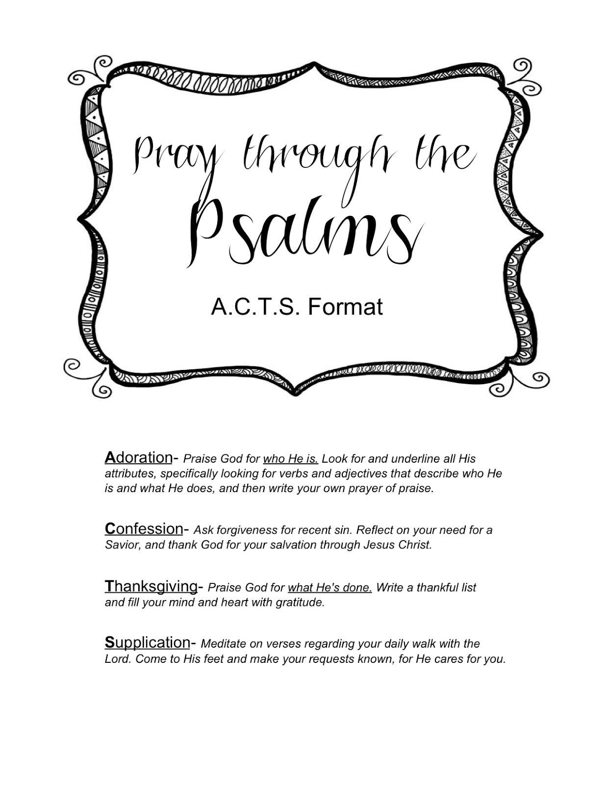 How to write a pray of the faithful