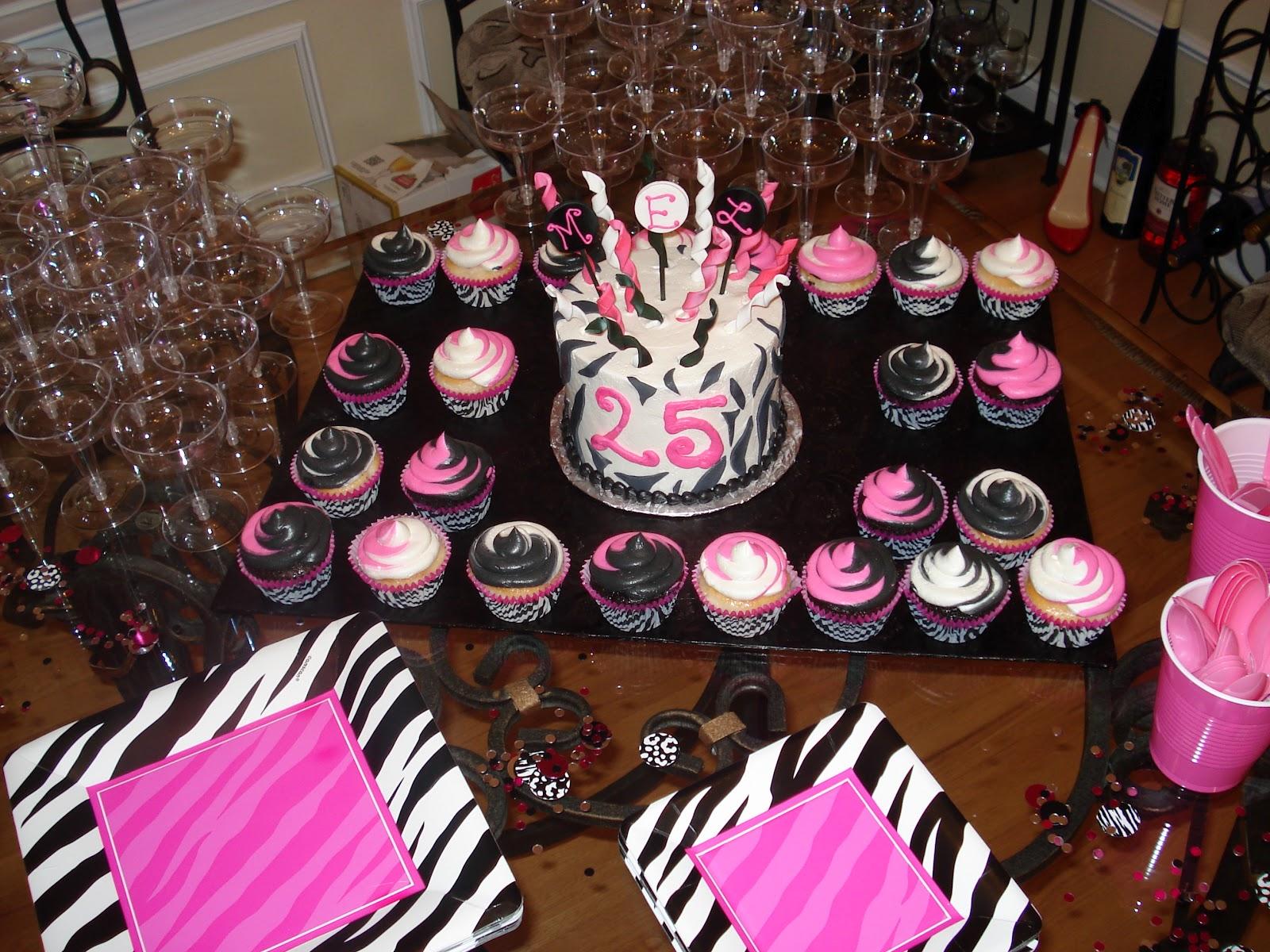 Carolina charm mel 39 s surprise 25th birthday party for 25th birthday decoration