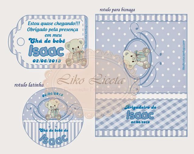 rotulos personalizados chá de bebê