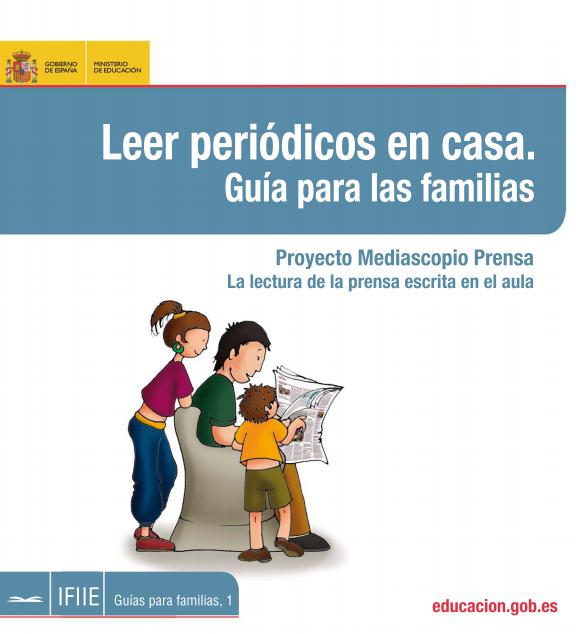 LEER PERIÓDICOS EN CASA. GUÍA PARA FAMILIAS