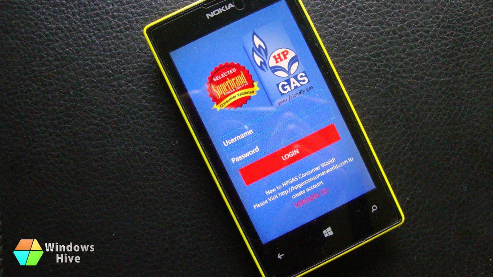 hp gas app, windows phone