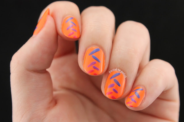 Abstract Fishtail Gradient Using the Girly Bits Hoop! There It Is Collection