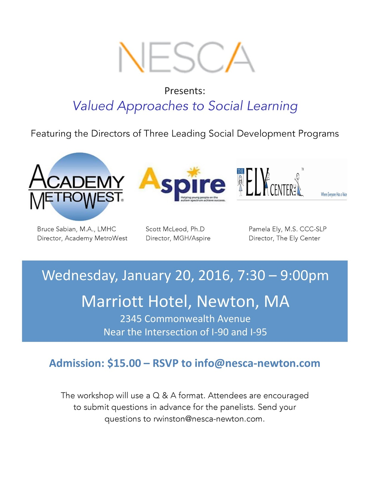 Nesca Presents Valued Approaches To >> Nesca News Notes Last Call Social Learning Workshop In Newton