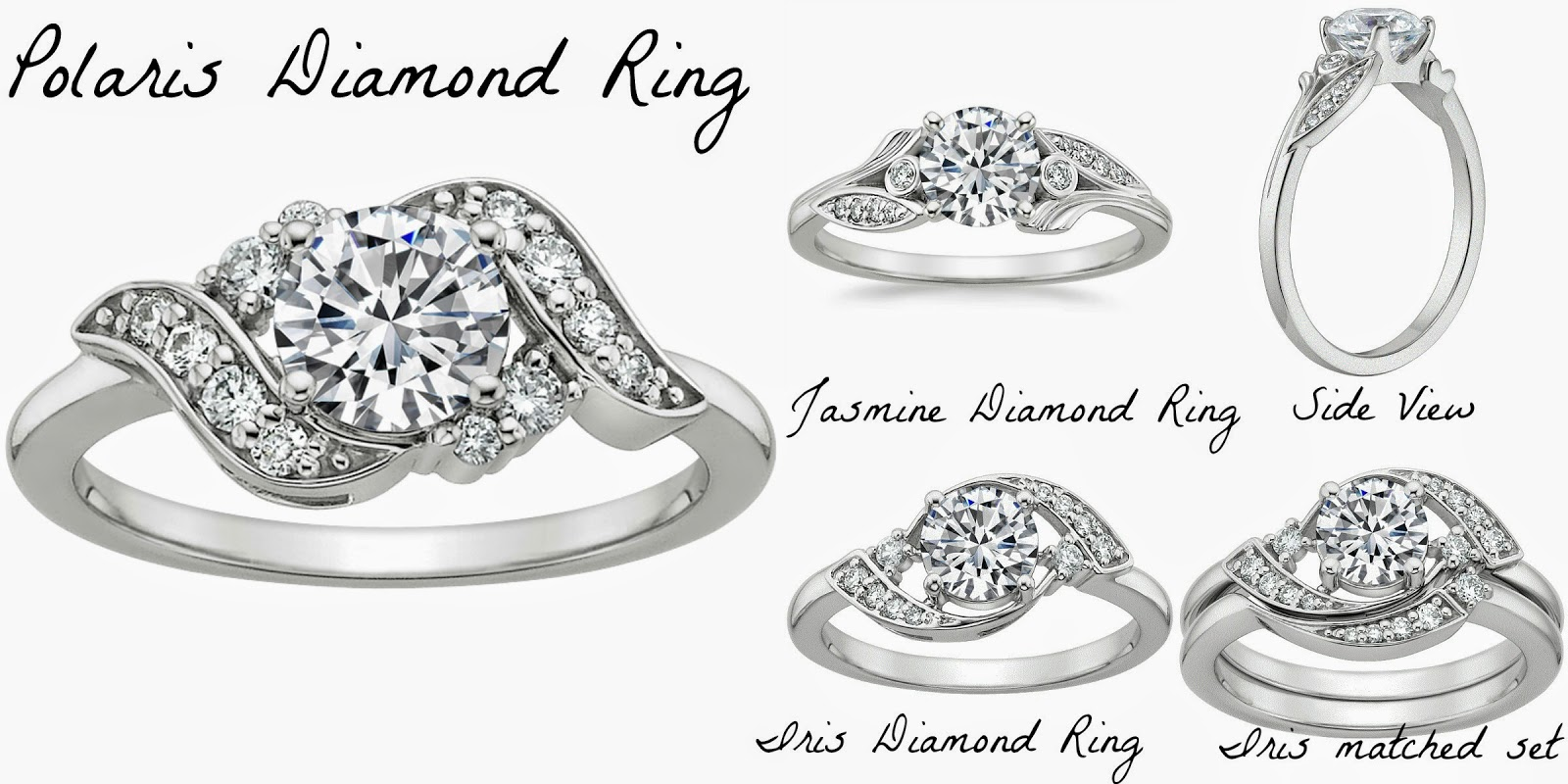 I Think The Polaris Diamond Ring Is My Favorite Of The Bunch The Way It  Flows Together With The One Center Piece