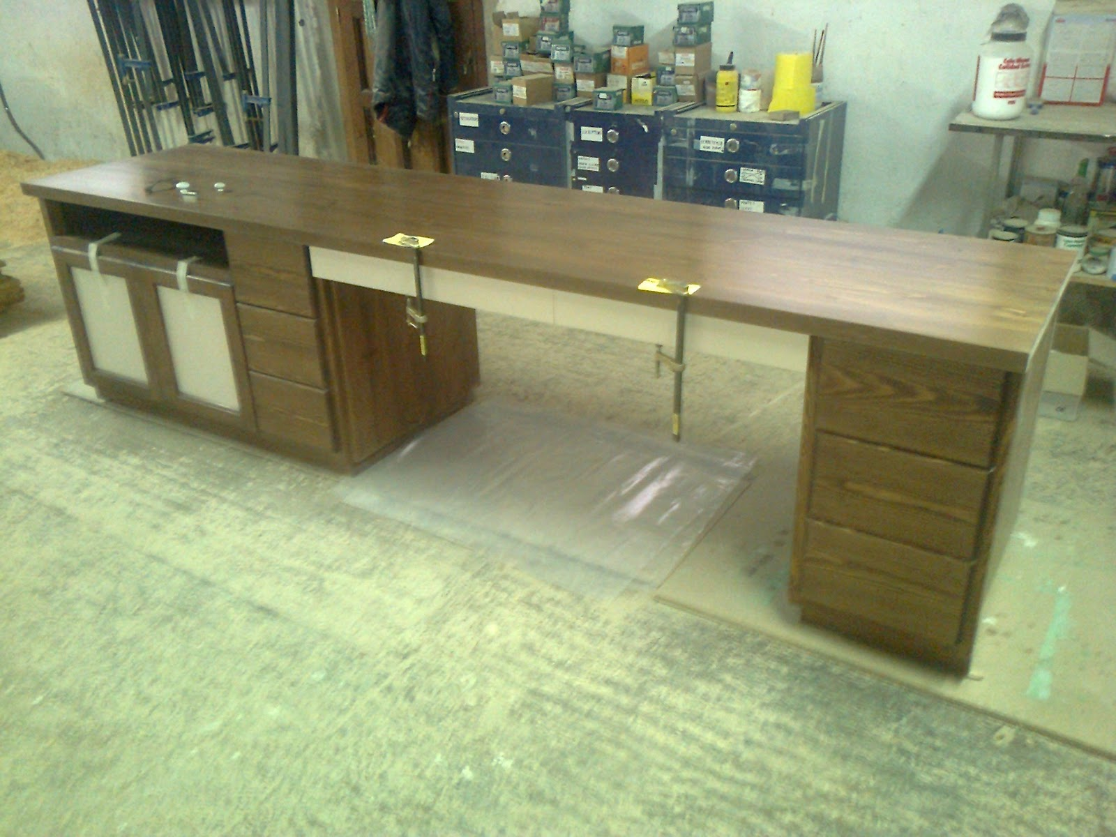 Mi las mobles moble escriptori de fusta a mida - Mobles vintage barcelona ...