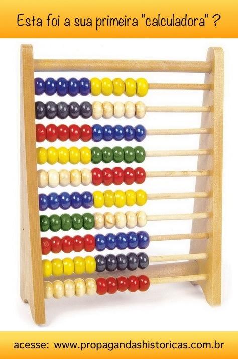 Ábaco: objeto de cálculo usado por crianças na educação infantil.
