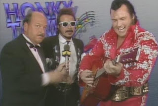WWE/WWF SUMMERSLAM 1988 - The Honky Tonk Man welcomes all challengers in this promo with Mean Gene Okerlund