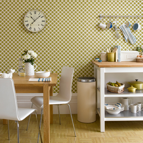 Kitchen wallpaper designs ideas 2017 grasscloth wallpaper for Wallpapered kitchen ideas