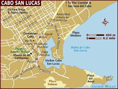 Cabo San Lucas Mapa Político Región