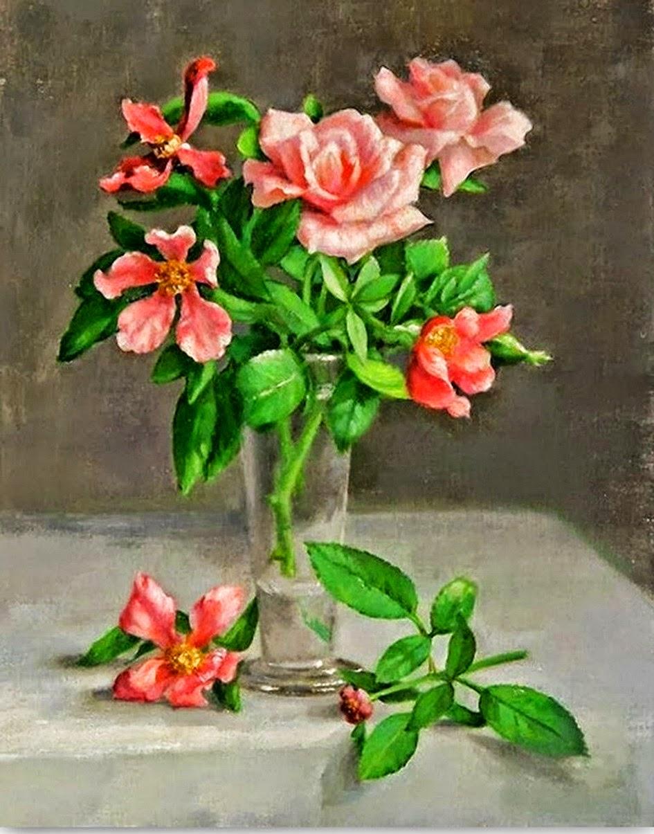cuadros-bodegones-de-flores-pinturas-realistas