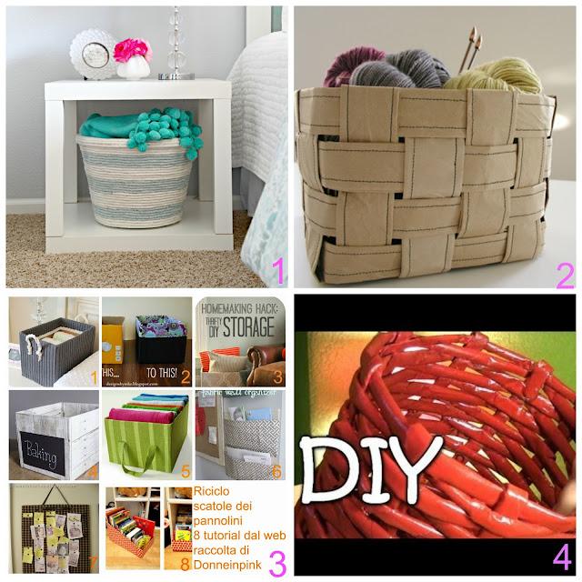 Favorito Ceste fai da te con materiali riciclati | donneinpink magazine QT01