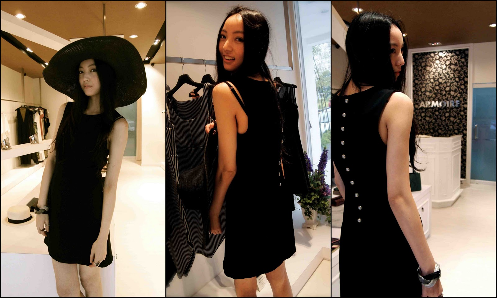 Erika Tan in Armoire's rock n' roll dress